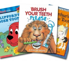 Reading about good dental care with your child